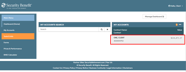 Where can I find information on the annuity I purchased?   Security